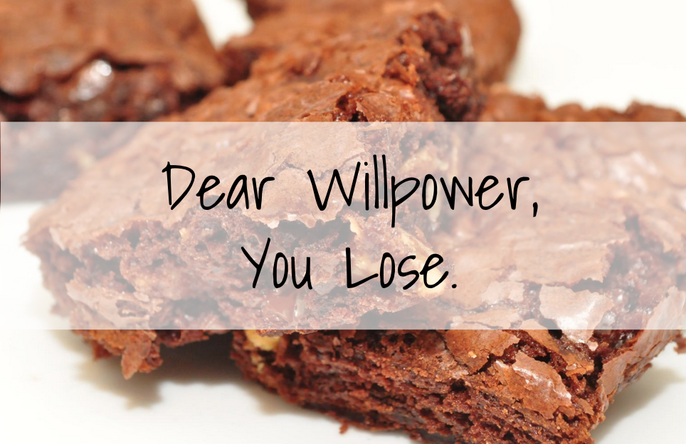 willpower vs. sugar