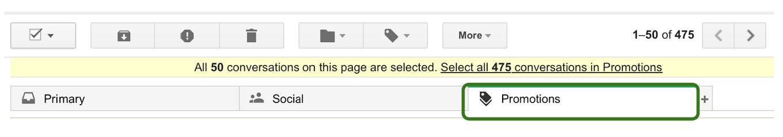 Inbox cleanup