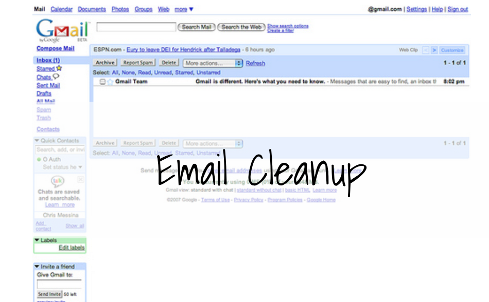 email cleanup
