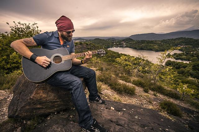 guitarist nature