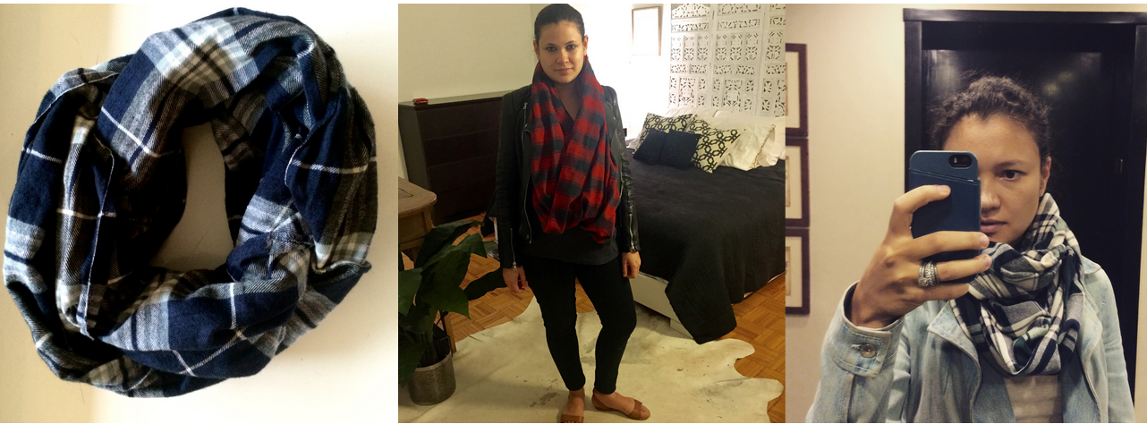 DIY flannel scarf